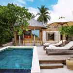 six senses laamu maldives family villa pool 2